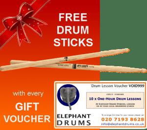 Drum Gift Vouchers - Free Sticks