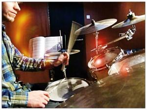 Drumming at Elephant Drums Studio