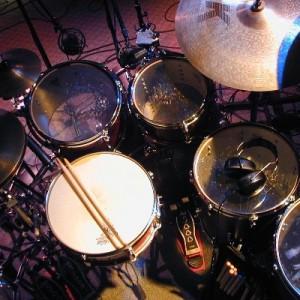 Drum kit in the studio