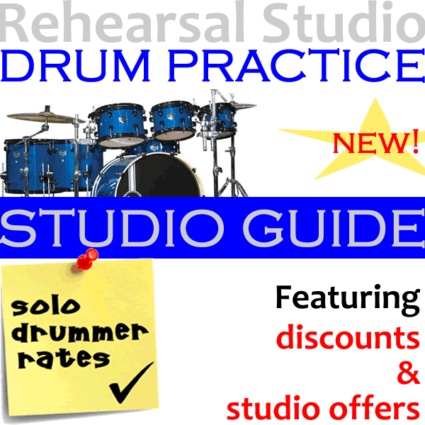 Rehearsal studios in London for drum practice