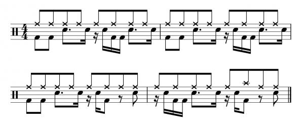 The famous u0026quot;Amen Breaku0026quot; drum groove