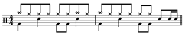 Groove example - notation
