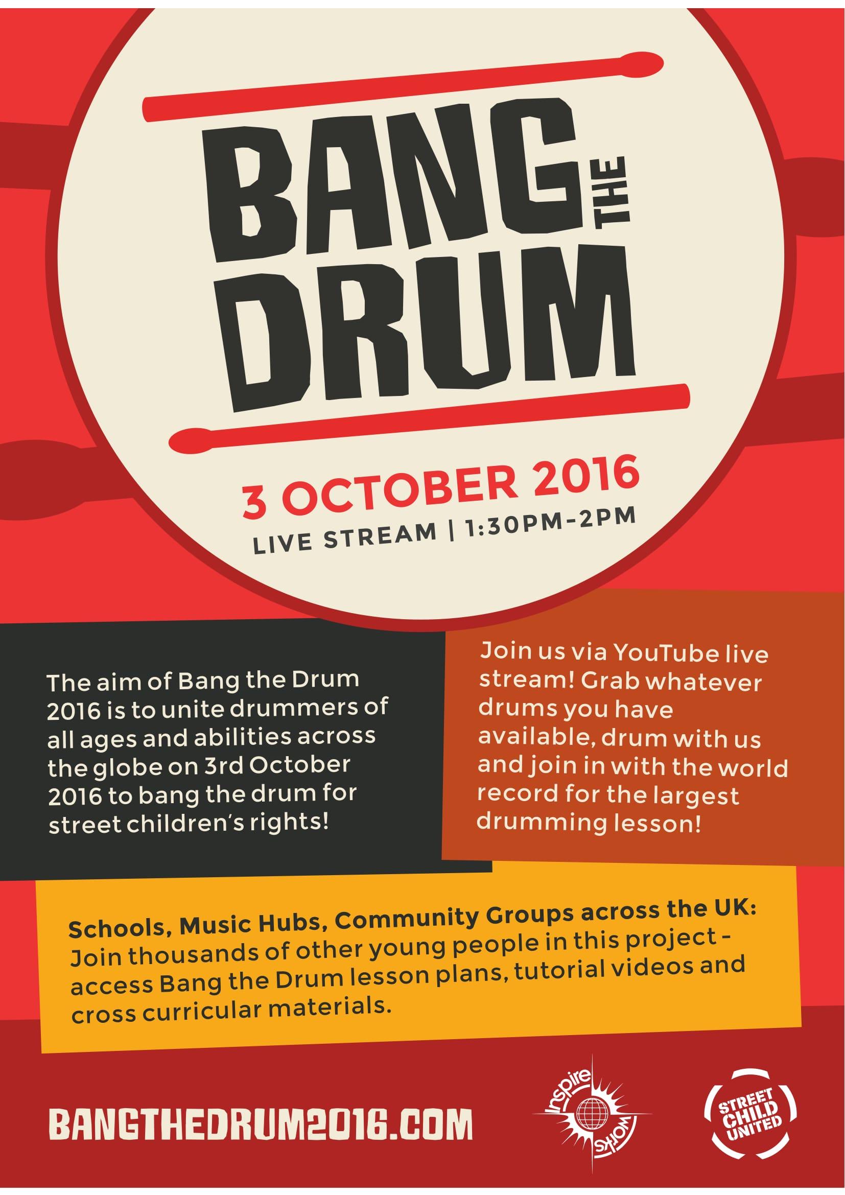 Bang The Drum Poster
