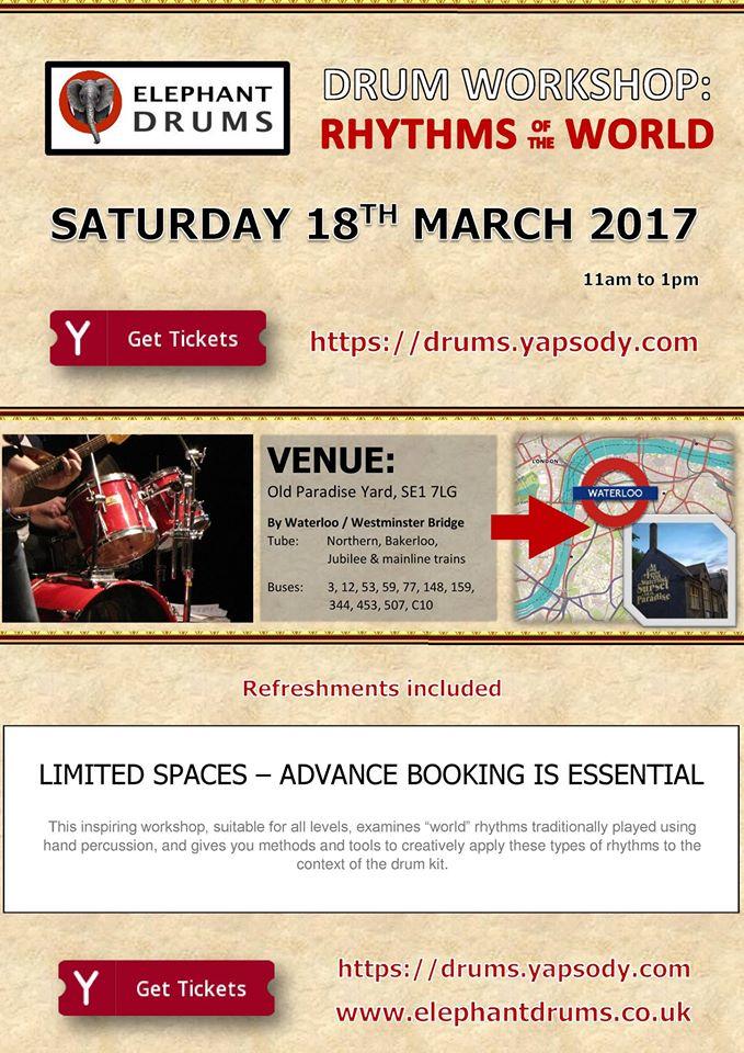 World Rhythms workshop March 2017