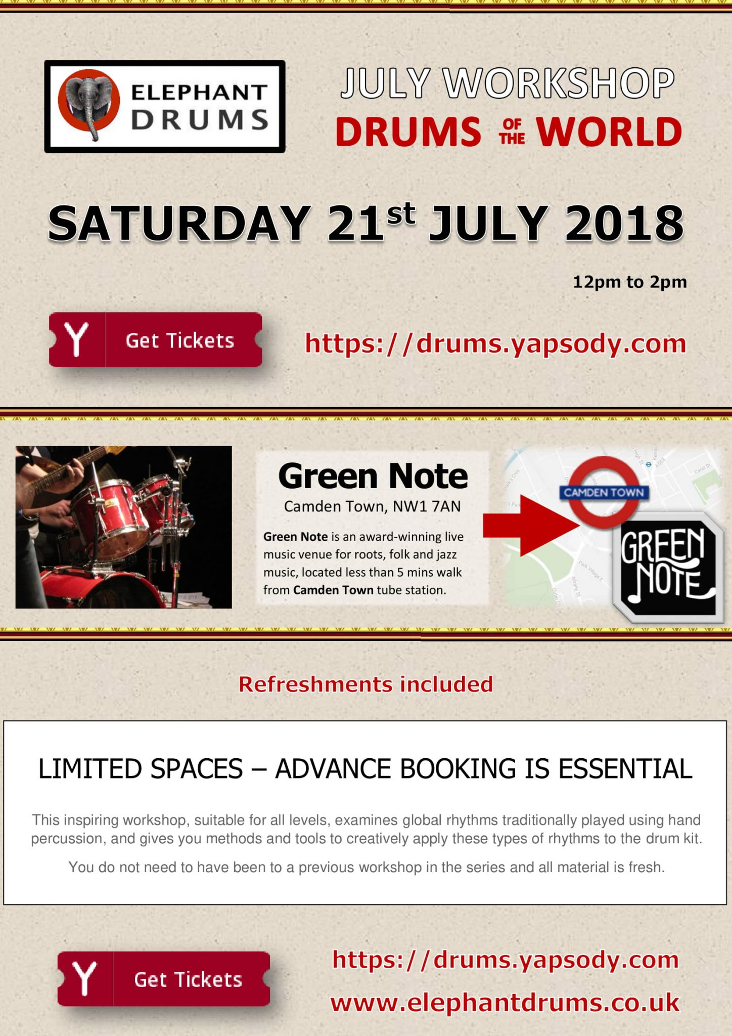 Drums of the World - Workshop - July 2018
